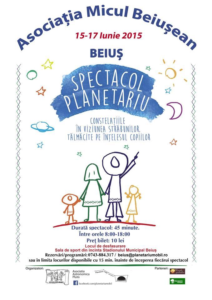Spectacol planetariu educational Beius