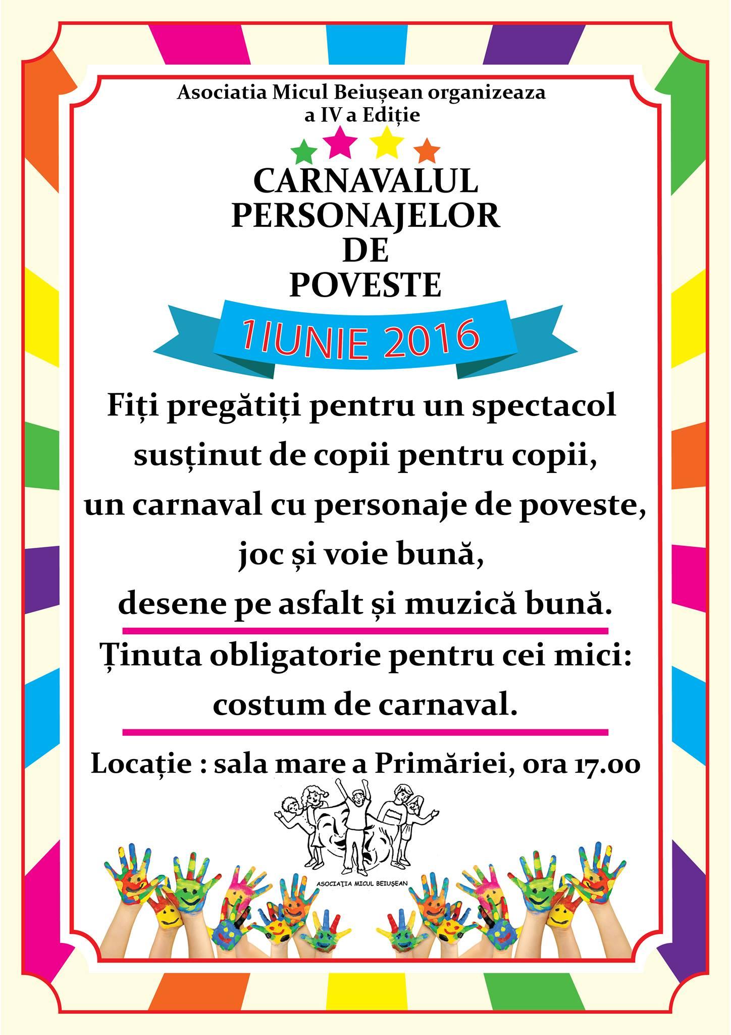 Carnavalul Personajelor de Poveste, ediția a 4-a, 1 iunie 2016