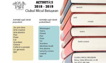 Cursuri la Clubul Micul Beiușean 2018 – 2019